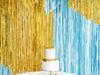 Χρυσή διακοσμητική κουρτίνα (0,90μ x 2,50μ)