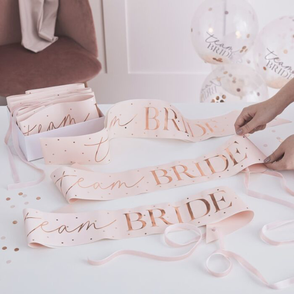 Picture of Sashes - Team Bride dots (6 Pack)