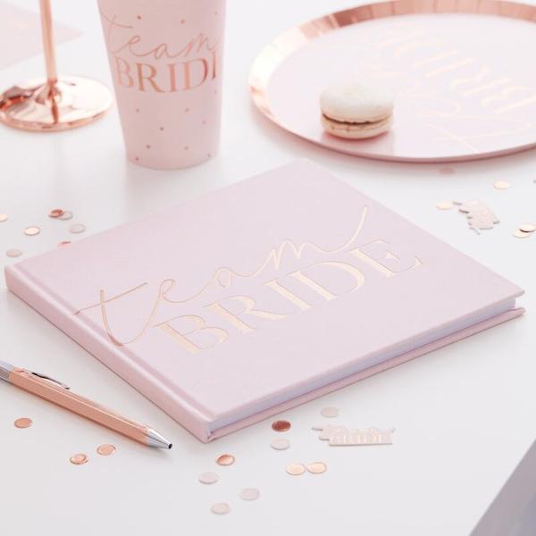 Picture of Guest Book pink blush velvet - Team bride