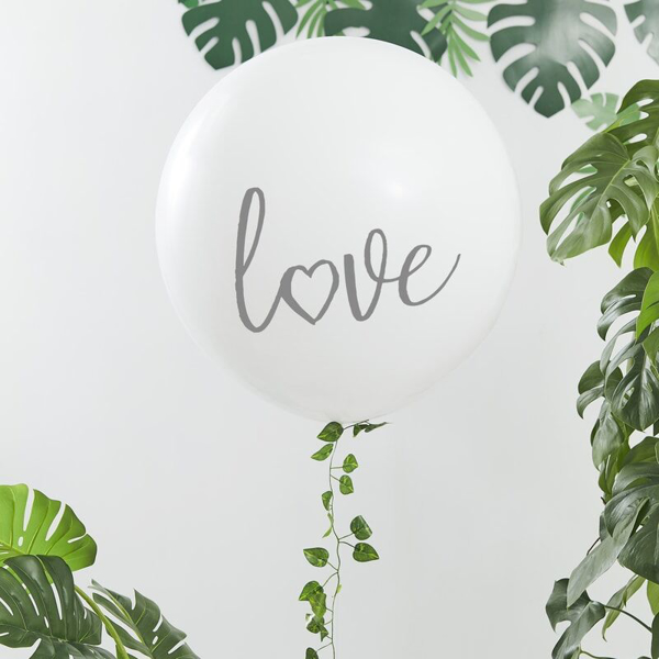 Picture of Giant Balloon - Love with foliage garland