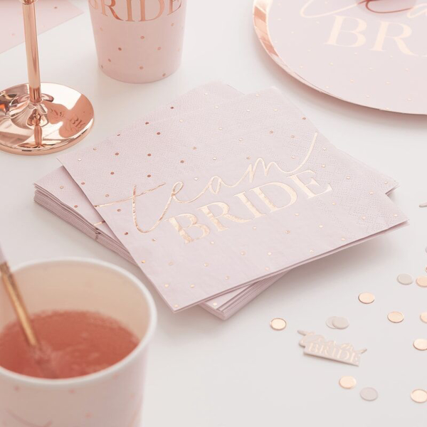 Picture of Paper napkins - Team Bride dots