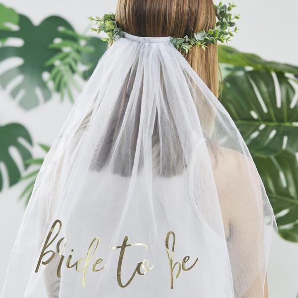 Στεφάνι για τα μαλλιά με τούλι - Bride to be