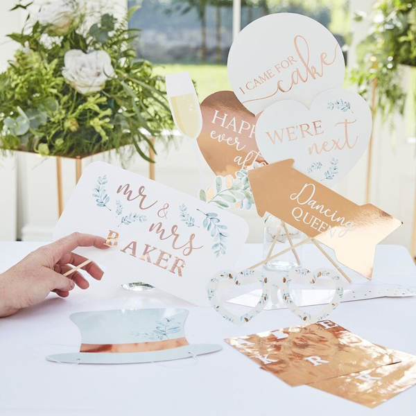 Picture of Wedding Photo Booth - Personalised (rose gold)