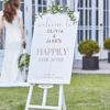 Picture of Personalised wedding welcome sign - Rose gold