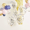 Picture of Gold, pink and navy confetti balloons - Baby shower