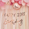 Picture of Customisable rose gold Birthday banner