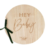 Picture of Wooden guest book - Hey baby!