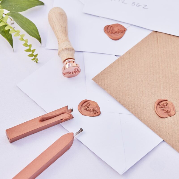 Picture of Wax seal wedding invitations stamp kit