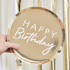 Picture of Paper plates - Happy Birthday gold