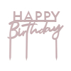Picture of Cake topper - Happy Birthday metallic pink colour