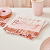 Picture of Paper napkins - Happy Birthday ombre rose gold