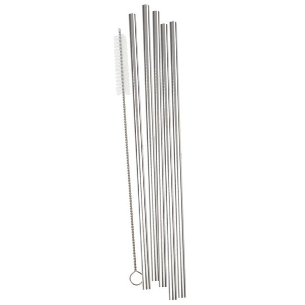 Picture of Stainless steel - Silver straws (5pcs)