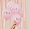 Μπαλόνια ροζ - Προσωποποιημένα (5τμχ)