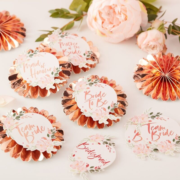 Picture of Badge Kit floral - Team Bride