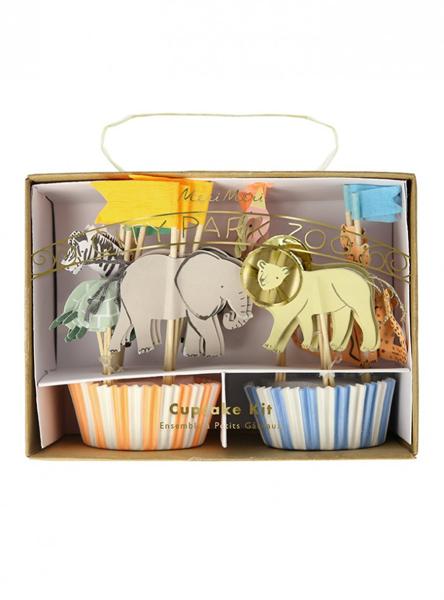 Θήκες και διακοσμητικά για cupcakes - Safari animals