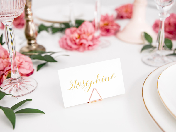 Picture of Place card holders triangles - Rose gold