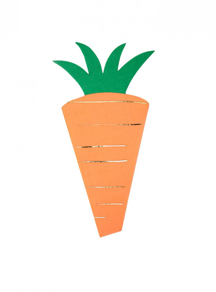 Picture of Napkins - Carrot shaped