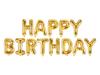 Μπαλόνια σετ HAPPY BIRTHDAY χρυσό