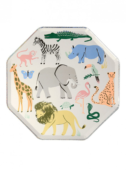 Picture of Paper plates - Safari animals