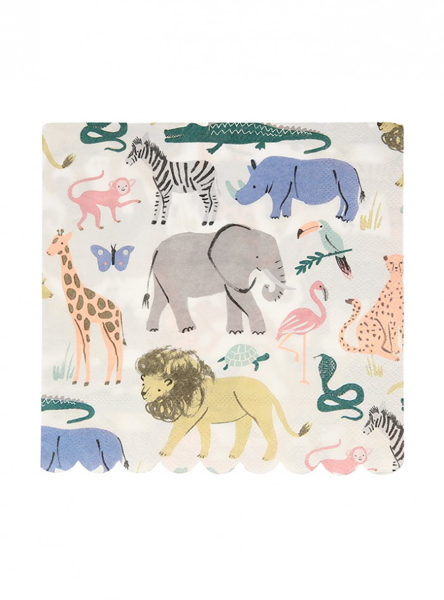 Picture of Paper napkins - Safari animals
