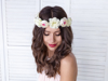 Picture of Flower crown, white, 17cm