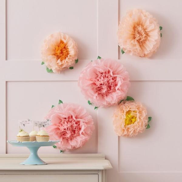 Σετ pom pom λουλούδια (σετ 5)