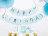 Picture of Baby blue & gold foil Happy Birthday bunting