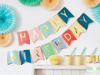 Picture of Happy Birthday Bunting with colorful flags