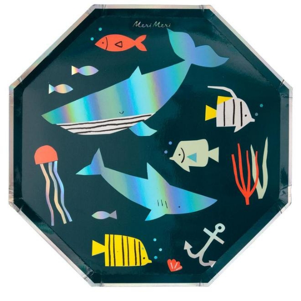 Picture of Dinner paper plates - Under the sea