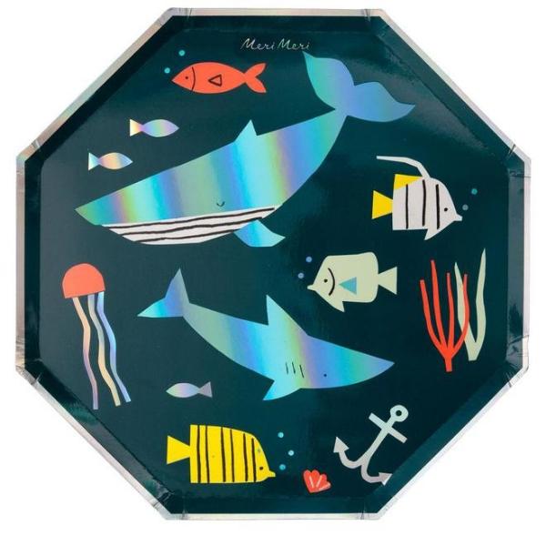 Χάρτινα πιάτα φαγητού - Under the sea