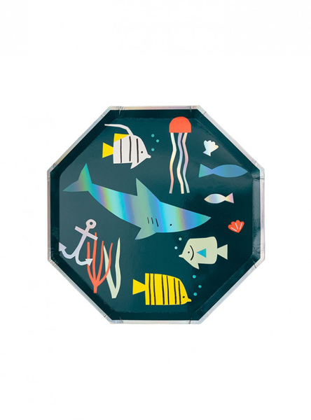Picture of Side paper plates - Under the sea