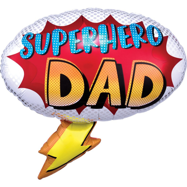 Picture of Foil Balloon Superhero Dad
