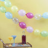Picture of Multicoloured and confetti filled linking balloons