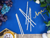 Picture of Paper Straws - Gold Foiled Star (10pcs)