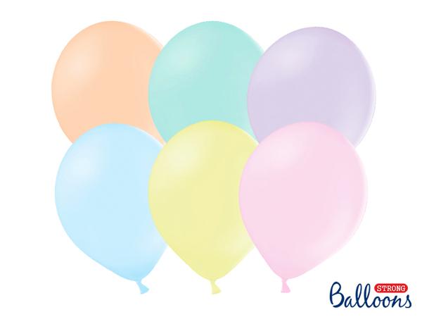 Σετ μπαλόνια - Παστέλ (10τμχ)