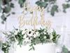 Ξύλινο διακοσμητικό για τούρτα - Happy Birthday