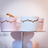Picture of Cake cups white with gold