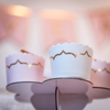 Picture of Cake cups pastel pink with gold