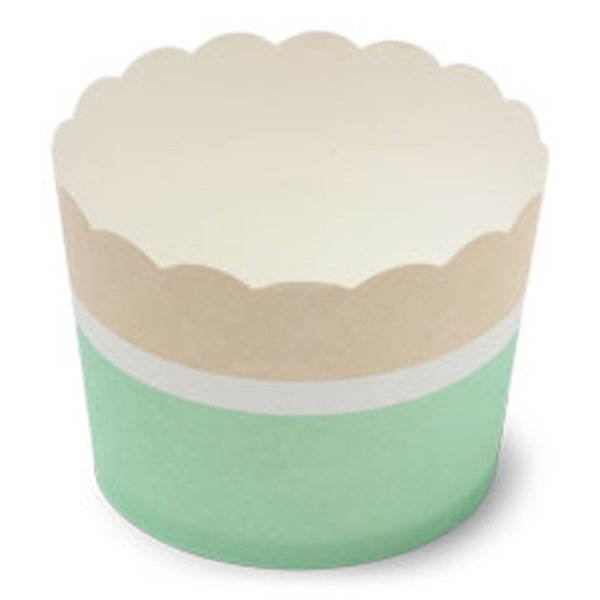 Picture of Cake cups cream and mint colour