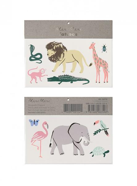 Picture of Tattoos - Safari animals