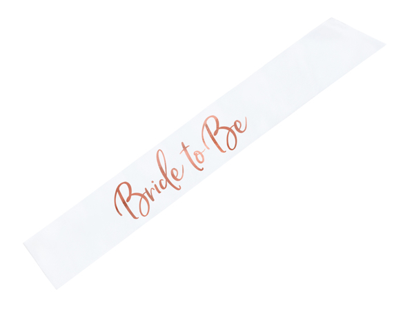 Picture of Bride to be Sash - Satin with rose gold