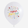 Picture of Balloons white - Happy birthday (5 pcs)