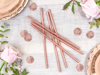 Picture of Rose Gold Paper Straws (10pc)