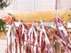 Γιρλάντα με φούντες - Ροζ χρυσό