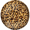 Picture of Foil Balloon ball leopard print