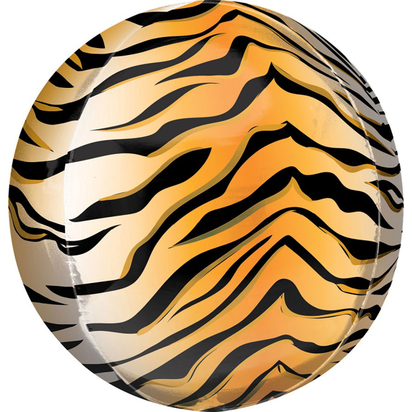 Picture of Foil Balloon ball tiger print