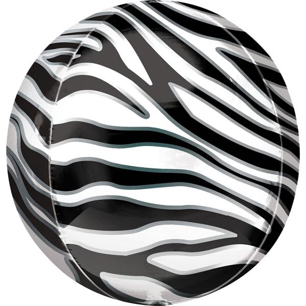 Μπαλόνι foil στρόγγυλη μπάλα zebra print