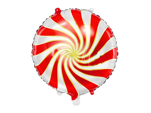 Μπαλόνι foil Candy κόκκινο - χρυσό