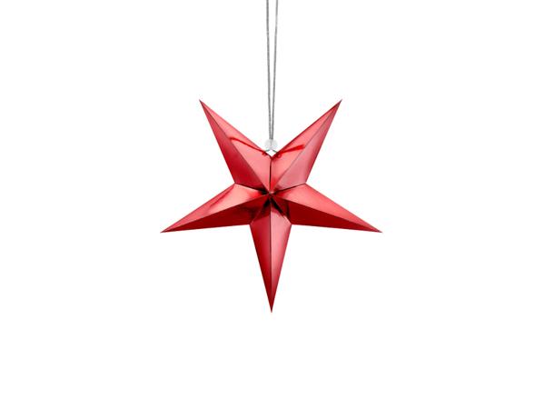 Κόκκινο διακοσμητικό αστέρι  (30εκ)