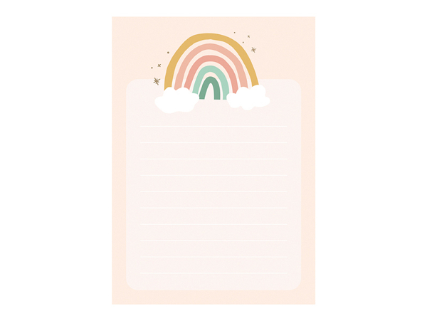 Picture of Paper notebook - Rainbow (6pcs)